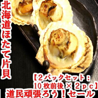 応援セール ホタテ片貝2pcセット(約10枚×2個) 札幌