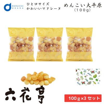 メール便配送【同梱不可】めんこい大平原 100g ×3個セット